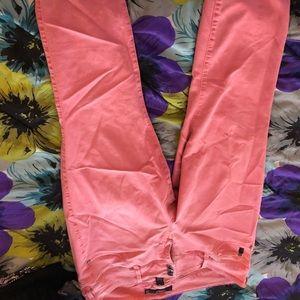 Peach Denim Jeans; Torrid; W 20R